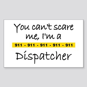 Police Tape Dispatcher Rectangle Sticker