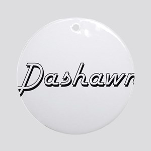 Dashawn Classic Style Name Ornament (Round)