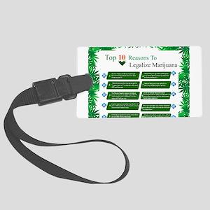 Legalize Weed Large Luggage Tag