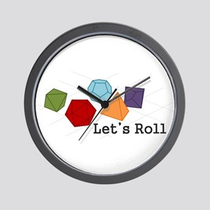 Lets Roll Wall Clock