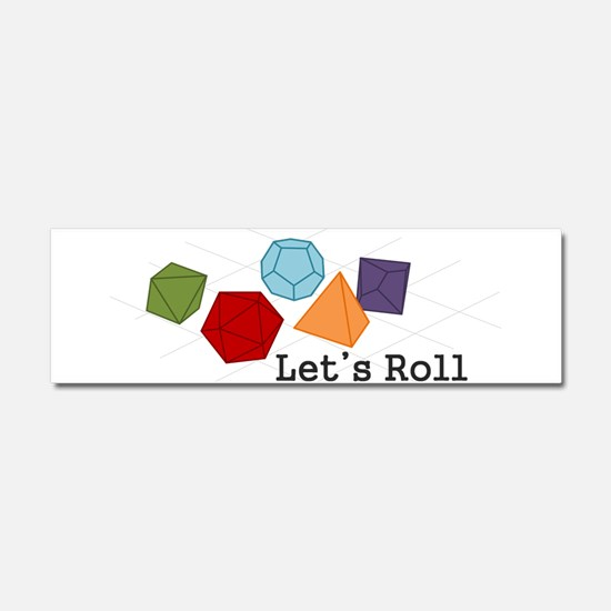 Lets Roll Car Magnet 10 x 3