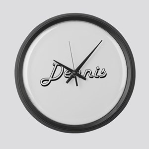 Dennis Classic Style Name Large Wall Clock