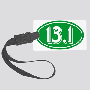 13.1 Half Marathon Oval Green Large Luggage Tag