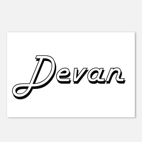 Devan Classic Style Name Postcards (Package of 8)