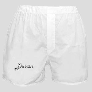 Devan Classic Style Name Boxer Shorts