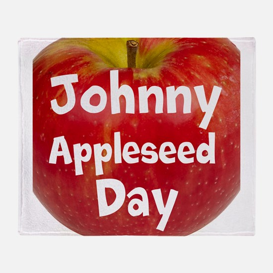 Johnny Appleseed Day Throw Blanket