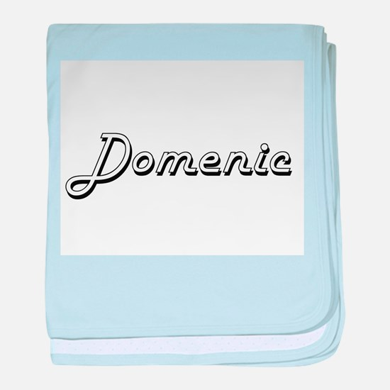 Domenic Classic Style Name baby blanket