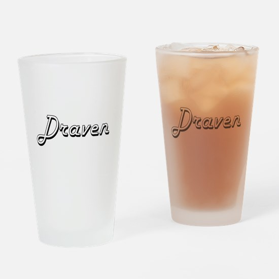 Draven Classic Style Name Drinking Glass