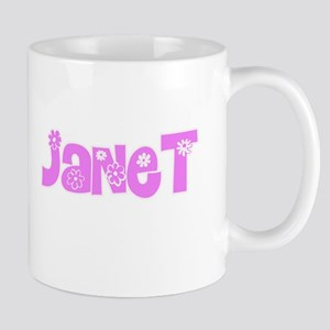 Janet Flower Design Mugs
