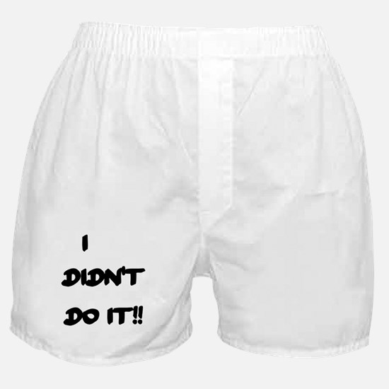 I DIDN'T DO IT Boxer Shorts