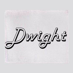 Dwight Classic Style Name Throw Blanket