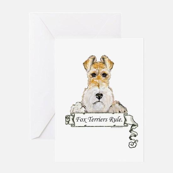 Fox Terriers Rule Greeting Card