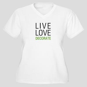 Live Love Decorat Women's Plus Size V-Neck T-Shirt