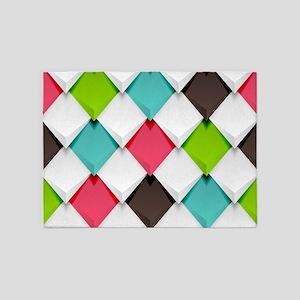Colored Diamonds 5'x7'Area Rug