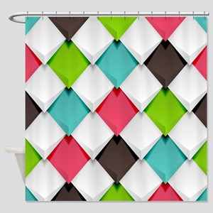 Colored Diamonds Shower Curtain