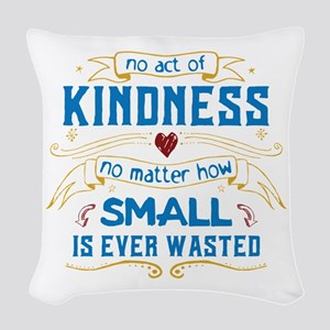 Act of Kindness Woven Throw Pillow