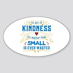 Act of Kindness Sticker (Oval)