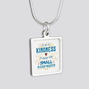 Act of Kindness Silver Square Necklace