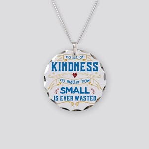 Act of Kindness Necklace Circle Charm