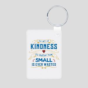 Act of Kindness Aluminum Photo Keychain