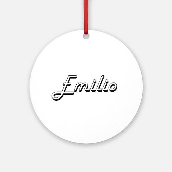 Emilio Classic Style Name Ornament (Round)