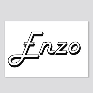 Enzo Classic Style Name Postcards (Package of 8)