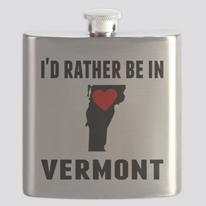 Id Rather Be In Vermont Flask