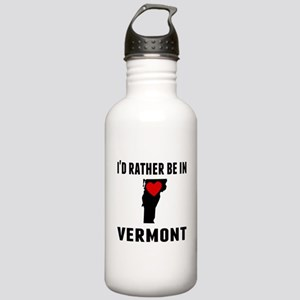Id Rather Be In Vermont Water Bottle