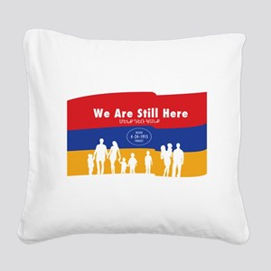 Armenian Genocide Square Canvas Pillow