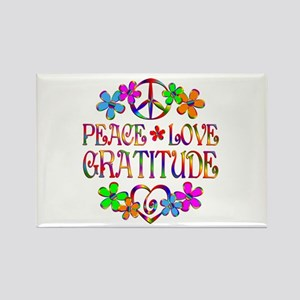 Peace Love Gratitude Rectangle Magnet