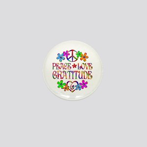 Peace Love Gratitude Mini Button