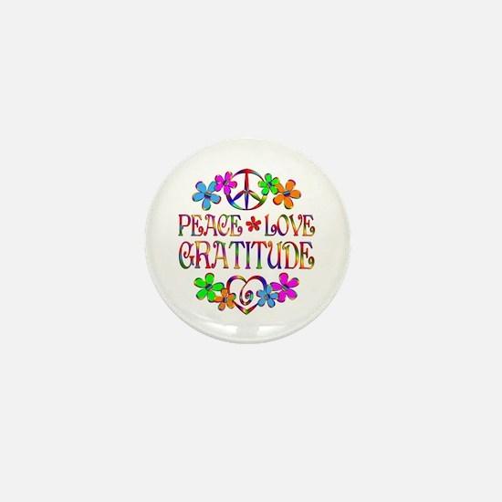 Peace Love Gratitude Mini Button