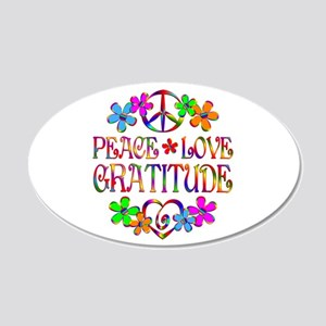 Peace Love Gratitude 20x12 Oval Wall Decal