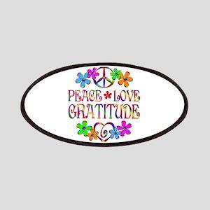 Peace Love Gratitude Patch