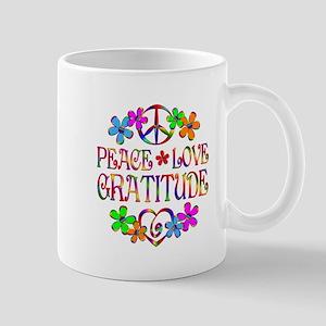 Peace Love Gratitude Mug