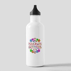Peace Love Gratitude Stainless Water Bottle 1.0L