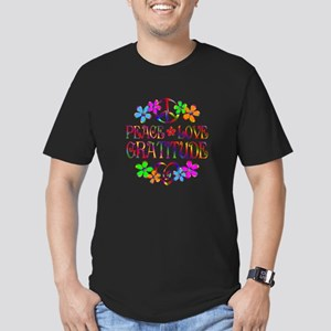 Peace Love Gratitude Men's Fitted T-Shirt (dark)