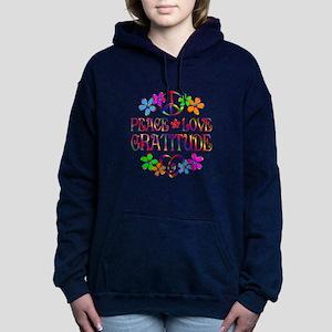 Peace Love Gratitude Women's Hooded Sweatshirt