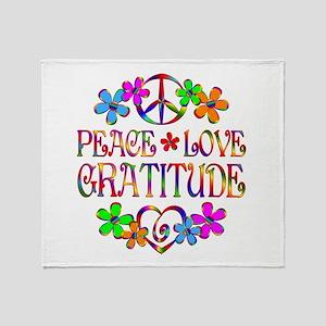 Peace Love Gratitude Throw Blanket