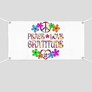 Peace Love Gratitude Banner