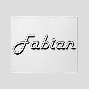 Fabian Classic Style Name Throw Blanket