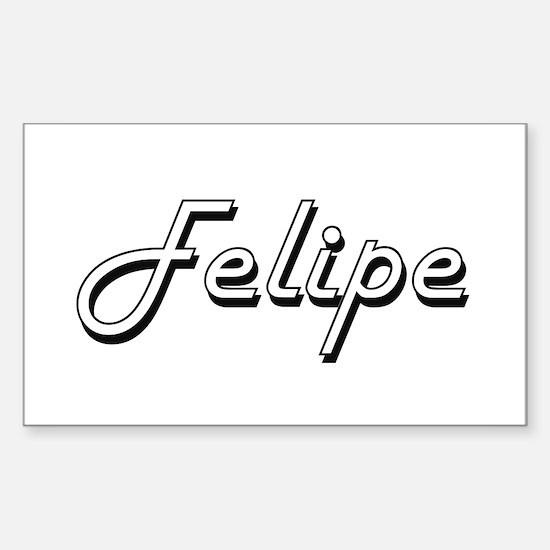 Felipe Classic Style Name Decal