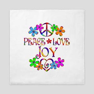 Peace Love Joy Queen Duvet