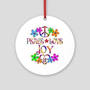 Peace Love Joy Ornament (Round)