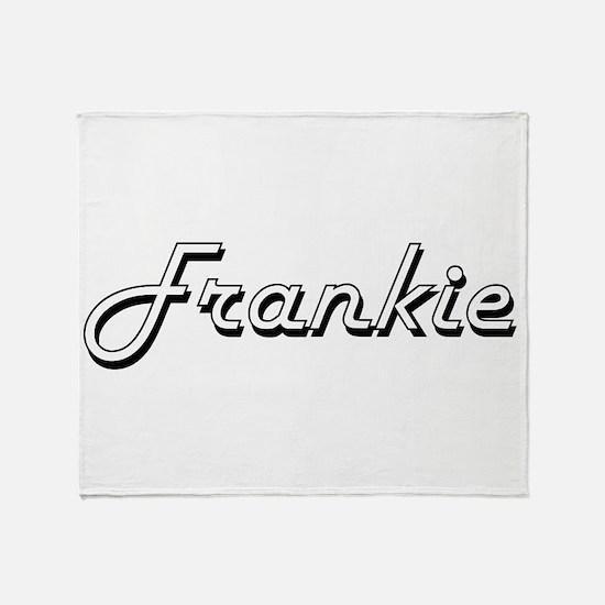 Frankie Classic Style Name Throw Blanket