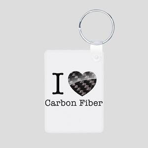 I love Carbon Fiber Aluminum Photo Keychain