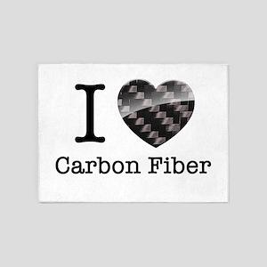 I love Carbon Fiber 5'x7'Area Rug