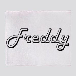 Freddy Classic Style Name Throw Blanket