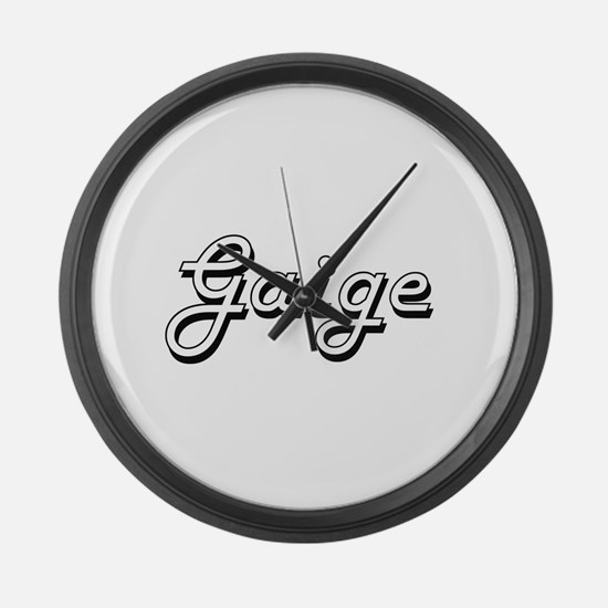Gaige Classic Style Name Large Wall Clock