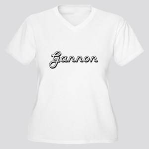 Gannon Classic Style Name Plus Size T-Shirt